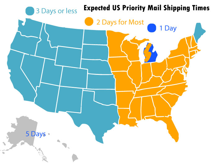 Frequently Asked Questions - Us mail time map