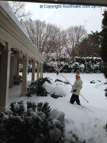 Removing Snow From a Porch