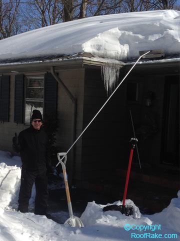 Lovely ... Steve And His Snow Rake ...