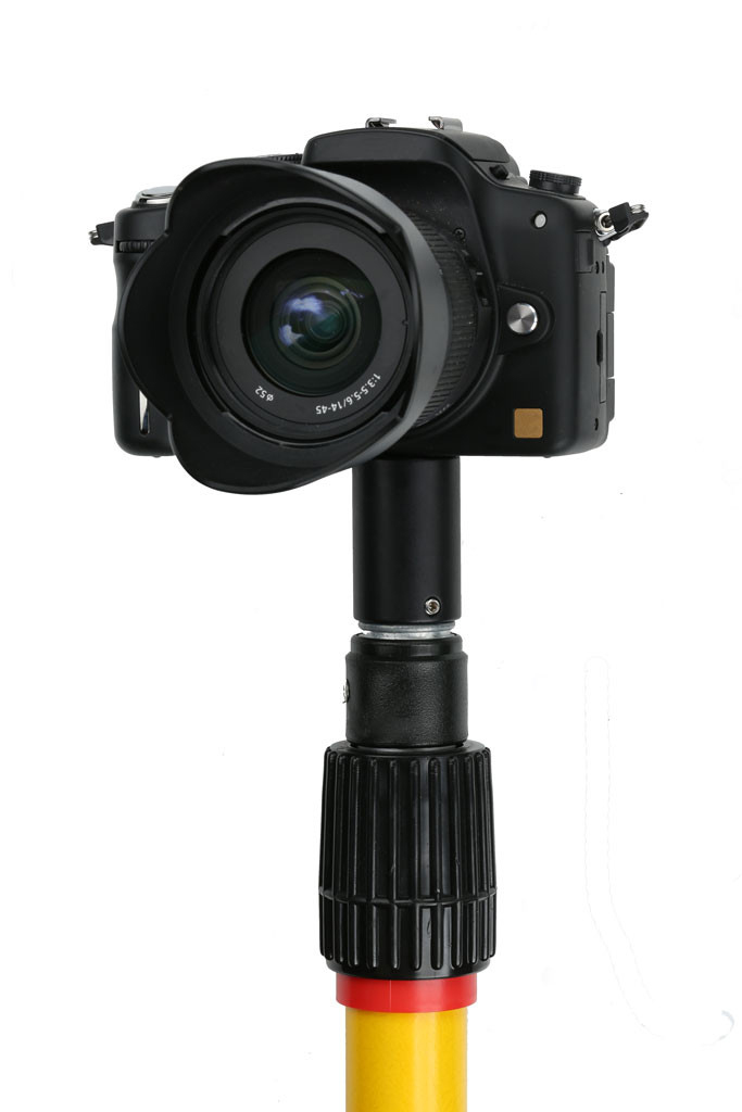 camera adapter for telescoping pole
