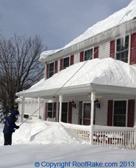 ... Using A Snow Roof Rake