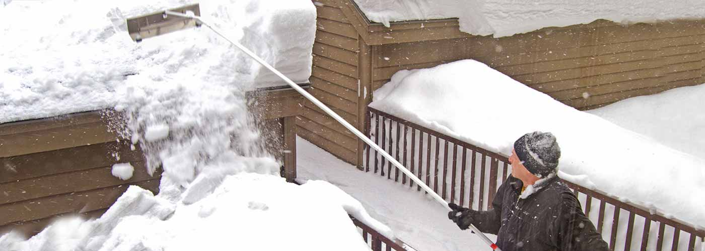 Shoveling Snow From Your Roof; Garelick Roof Rake ...